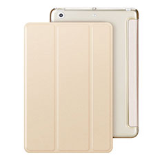 Leather Case Stands Flip Cover for Apple iPad Mini 2 Gold