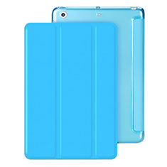 Leather Case Stands Flip Cover for Apple iPad Mini 3 Sky Blue