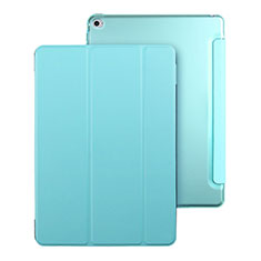 Leather Case Stands Flip Cover for Apple iPad Mini 4 Sky Blue