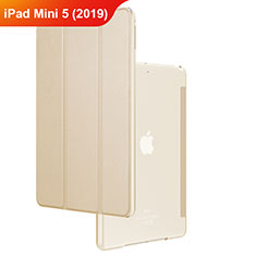 Leather Case Stands Flip Cover for Apple iPad Mini 5 (2019) Gold