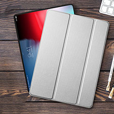 Leather Case Stands Flip Cover for Apple iPad Pro 11 (2018) Silver