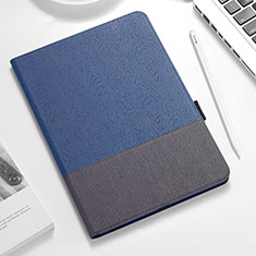 Leather Case Stands Flip Cover for Apple iPad Pro 12.9 (2018) Blue and Black