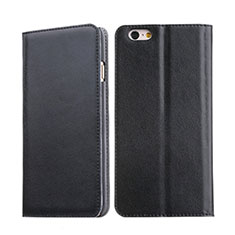 Leather Case Stands Flip Cover for Apple iPhone 6S Black