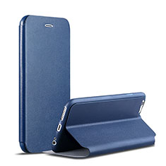 Leather Case Stands Flip Cover for Apple iPhone 6S Plus Blue