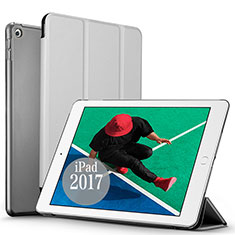 Leather Case Stands Flip Cover for Apple New iPad Pro 9.7 (2017) Silver