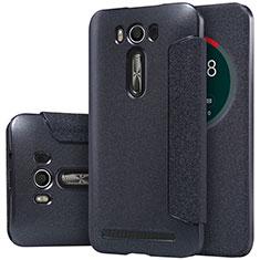 Leather Case Stands Flip Cover for Asus Zenfone 2 Laser 6.0 ZE601KL Black