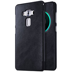 Leather Case Stands Flip Cover for Asus Zenfone 3 Deluxe ZS570KL ZS550ML Black