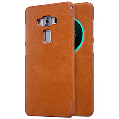 Leather Case Stands Flip Cover for Asus Zenfone 3 Deluxe ZS570KL ZS550ML Brown