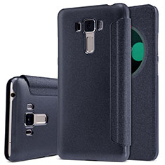 Leather Case Stands Flip Cover for Asus Zenfone 3 Laser Black