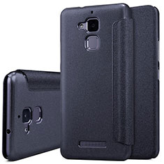 Leather Case Stands Flip Cover for Asus Zenfone 3 Max Black