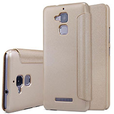 Leather Case Stands Flip Cover for Asus Zenfone 3 Max Gold