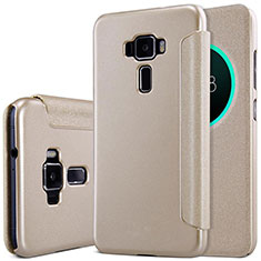 Leather Case Stands Flip Cover for Asus Zenfone 3 ZE552KL Gold