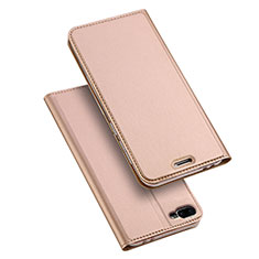 Leather Case Stands Flip Cover for Asus Zenfone 4 Max ZC554KL Rose Gold