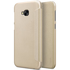 Leather Case Stands Flip Cover for Asus Zenfone 4 Selfie Pro Gold