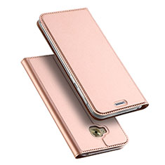 Leather Case Stands Flip Cover for Asus Zenfone 4 Selfie Pro Rose Gold