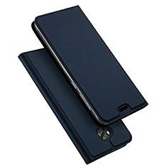 Leather Case Stands Flip Cover for Asus Zenfone 4 Selfie ZD553KL Blue