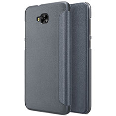 Leather Case Stands Flip Cover for Asus Zenfone 4 Selfie ZD553KL Gray