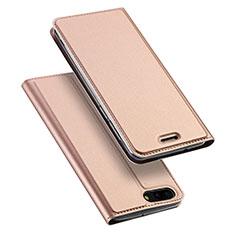 Leather Case Stands Flip Cover for Asus Zenfone 4 ZE554KL Rose Gold