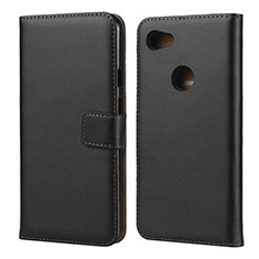 Leather Case Stands Flip Cover for Google Pixel 3a Black