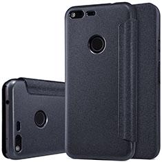 Leather Case Stands Flip Cover for Google Pixel Black