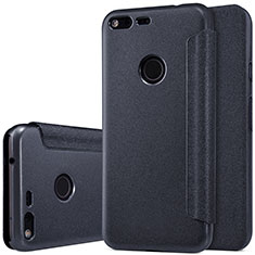 Leather Case Stands Flip Cover for Google Pixel XL Black