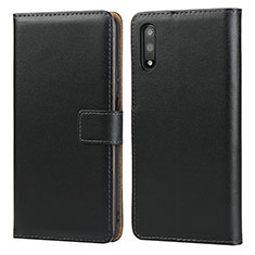 Leather Case Stands Flip Cover for Huawei Honor 9X Black