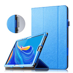 Leather Case Stands Flip Cover for Huawei MatePad 10.8 Blue