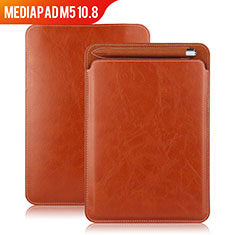 Leather Case Stands Flip Cover for Huawei MediaPad M5 10.8 Brown