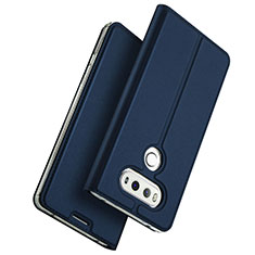 Leather Case Stands Flip Cover for LG G6 Blue