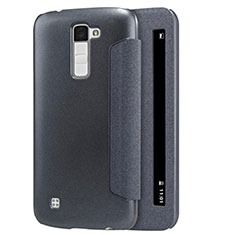 Leather Case Stands Flip Cover for LG K10 Black
