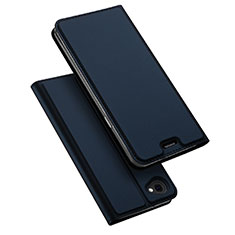 Leather Case Stands Flip Cover for LG Q6 Blue