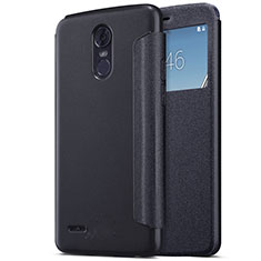 Leather Case Stands Flip Cover for LG Stylus 3 Black