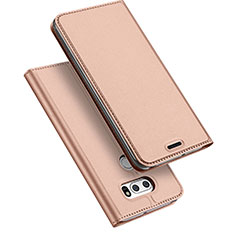 Leather Case Stands Flip Cover for LG V30 Rose Gold