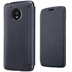Leather Case Stands Flip Cover for Motorola Moto G5 Black