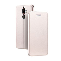 Leather Case Stands Flip Cover for Nokia 7 Plus Pink