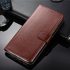 Leather Case Stands Flip Cover for Nokia 9 PureView Brown