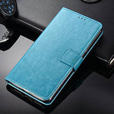 Leather Case Stands Flip Cover for Nokia 9 PureView Sky Blue