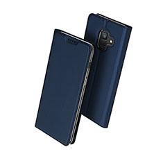 Leather Case Stands Flip Cover for Samsung Galaxy A6 (2018) Blue