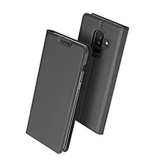Leather Case Stands Flip Cover for Samsung Galaxy A9 Star Lite Black