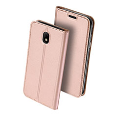 Leather Case Stands Flip Cover for Samsung Galaxy J5 (2017) SM-J750F Pink