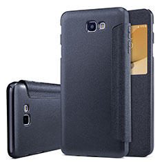 Leather Case Stands Flip Cover for Samsung Galaxy J5 Prime G570F Black