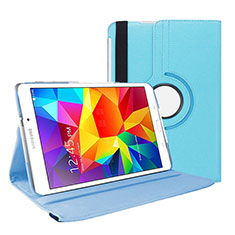 Leather Case Stands Flip Cover for Samsung Galaxy Tab 4 7.0 SM-T230 T231 T235 Sky Blue