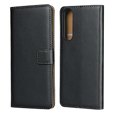 Leather Case Stands Flip Cover for Sony Xperia 1 II Black