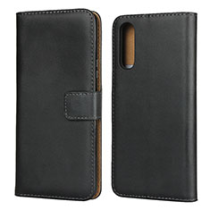 Leather Case Stands Flip Cover for Sony Xperia 10 II Black