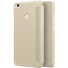 Leather Case Stands Flip Cover for Xiaomi Mi Max 2 Gold