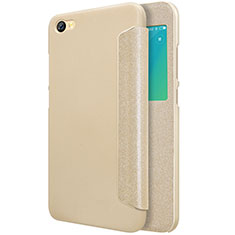 Leather Case Stands Flip Cover for Xiaomi Redmi Note 5A Standard Edition Gold