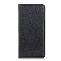 Leather Case Stands Flip Cover Holder for Alcatel 1X (2019) Black