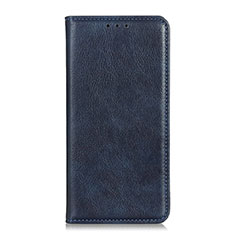 Leather Case Stands Flip Cover Holder for Alcatel 3L Blue