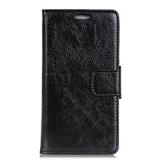 Leather Case Stands Flip Cover Holder for Alcatel 7 Black