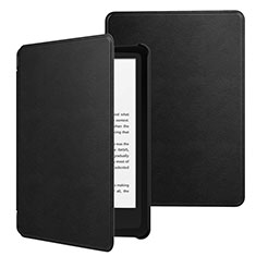Leather Case Stands Flip Cover Holder for Amazon Kindle 6 inch Black